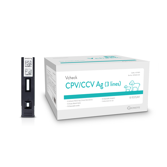 Vcheck Canine Parvovirus Ag & Canine Coronavirus Ag (CPV/CCV Ag [3 lines])